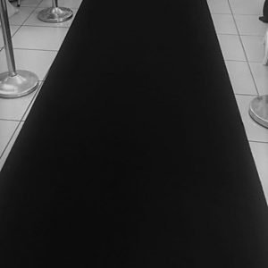 Carpet Runner Black 5 x 1.2m