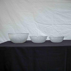 Salad Bowls- Glass Patterned (31cm)