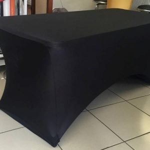 Lycra Black Table Cover 2.4m
