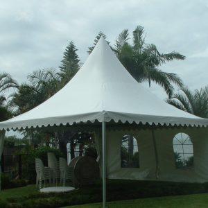 Pagoda 6 x 6m White