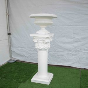 Pedestal & Urn Fancy White