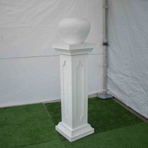 Pedestal & Urn Plain White