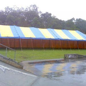 Peg & Pole 7.2 x 25.2m Blue & Yellow