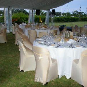 Tablecloth White 2.7m round