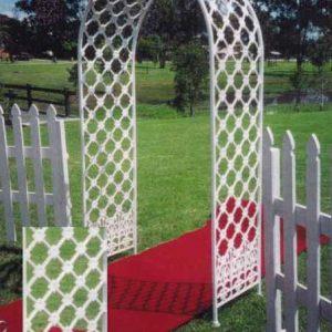 Wedding Arch- White Wrought Iron