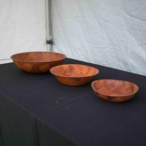 Salad Bowls Woven Wood (25cm)