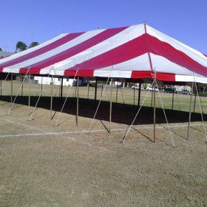 Peg & Pole 11 x 18.4m Red & White