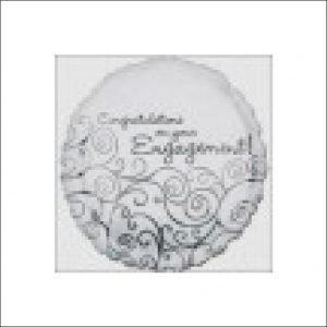 Engagement Foil Balloon Silver