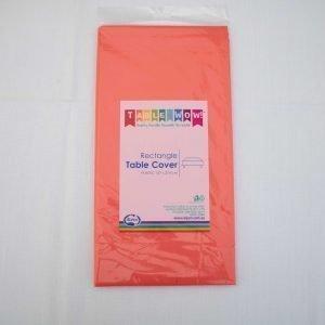 Red Rectangular Plastic Tablecloth