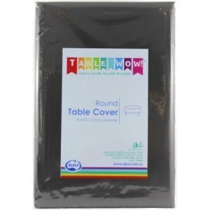 Tablecloth Black 2.7m round
