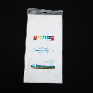 White Rectangular Plastic Tablecloth