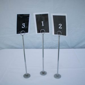 Table Number & Stands