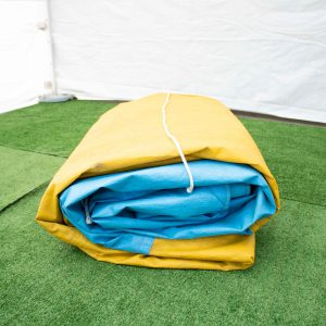 Tarp – 3.6 x 6.6m (blue & yellow)