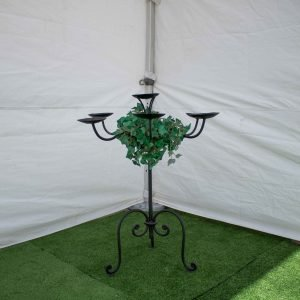 Candelabra-Wrought Iron- Table 7 Candle Black
