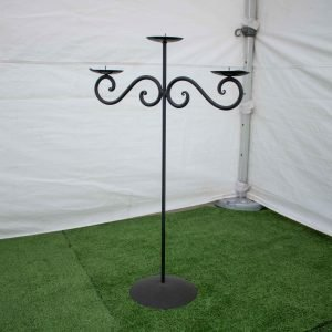 Candelabra-Wrought Iron- 3 Prongs